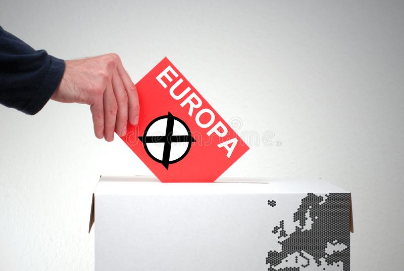 Wahlurne - Wahl Europa stockfoto
