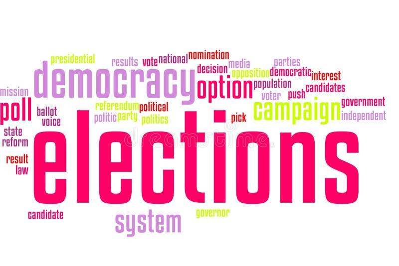 Wahlwortwolke lizenzfreie abbildung