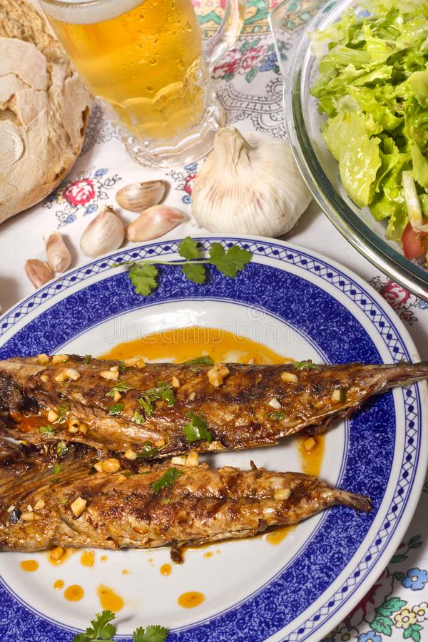 Download Wahoo grilled fish meal stock image. Image of pepper - 20166743