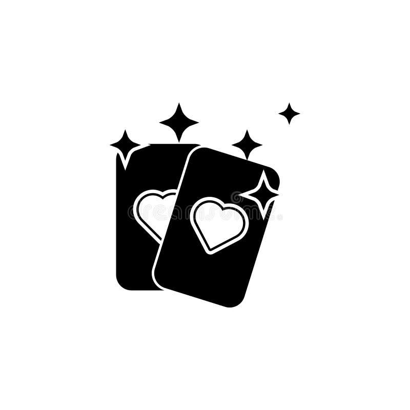 Wahrsagenkartenikone Element der populären magischen Ikone Erstklassiges Qualitätsgrafikdesign Zeichen, Symbolsammlungsikone für  vektor abbildung