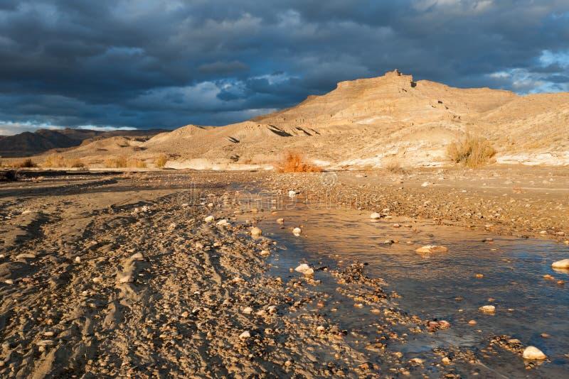 Wahweap wash in Utah desert royalty free stock images