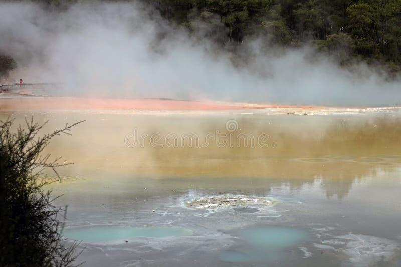 Wai-O-Tapu地热地区在罗托路亚,新西兰 免版税库存照片