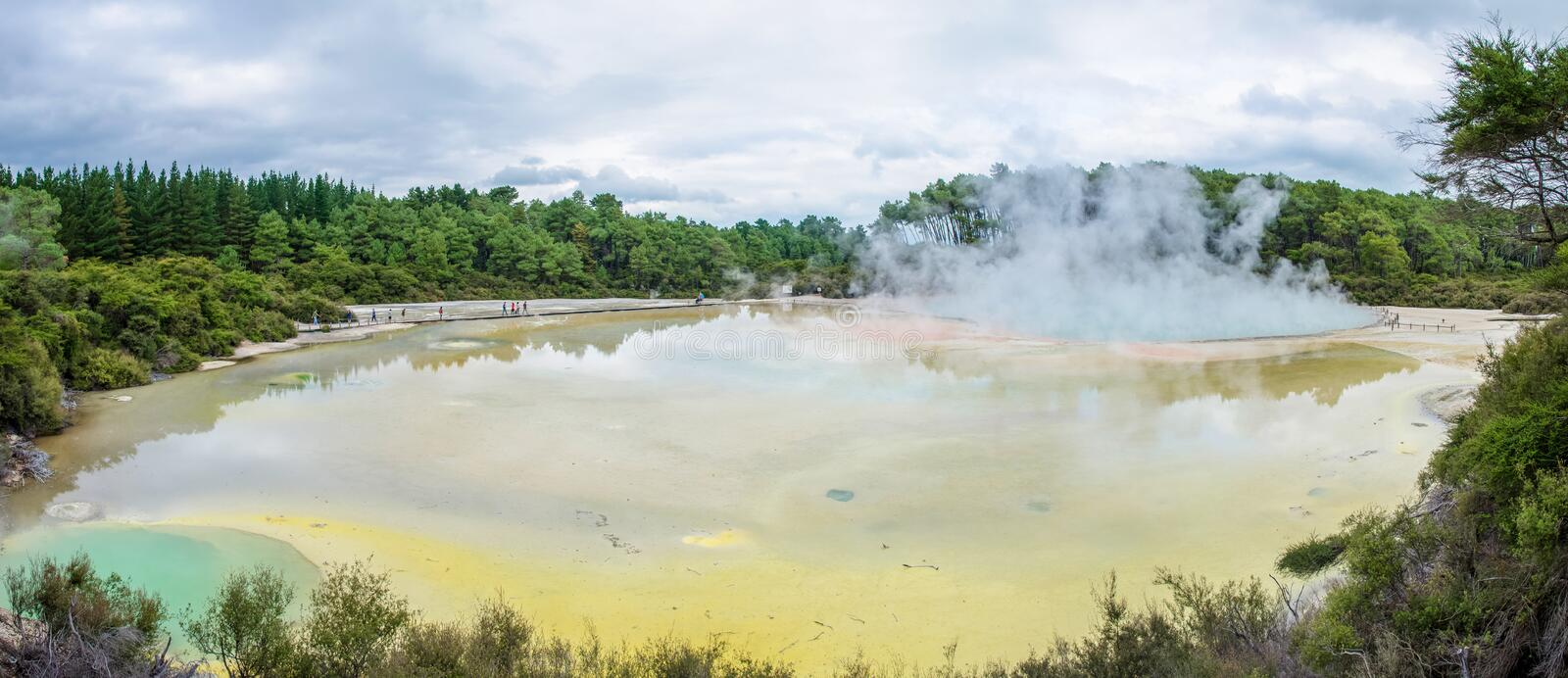 Wai-O-Tapu Thermal Wonderland which is located in Rotorua, New Zealand. royalty free stock photos