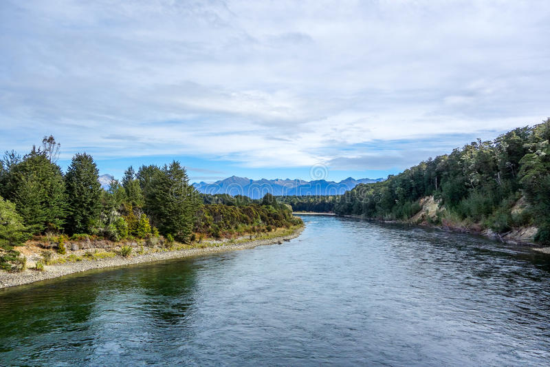 Waiau River - Fiordland - New Zealand. Waiau River in Fiordland national park New Zealand stock image