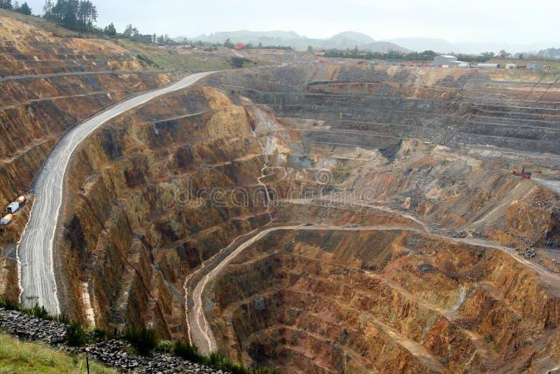 Waihi gold mine stock image