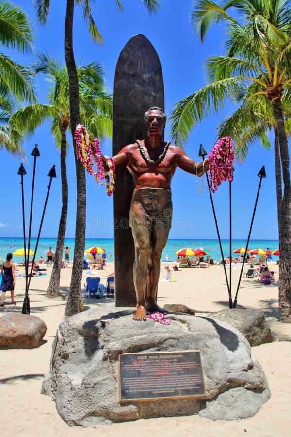 waikiki Гавайских островов honolulu oahu пляжа стоковая фотография
