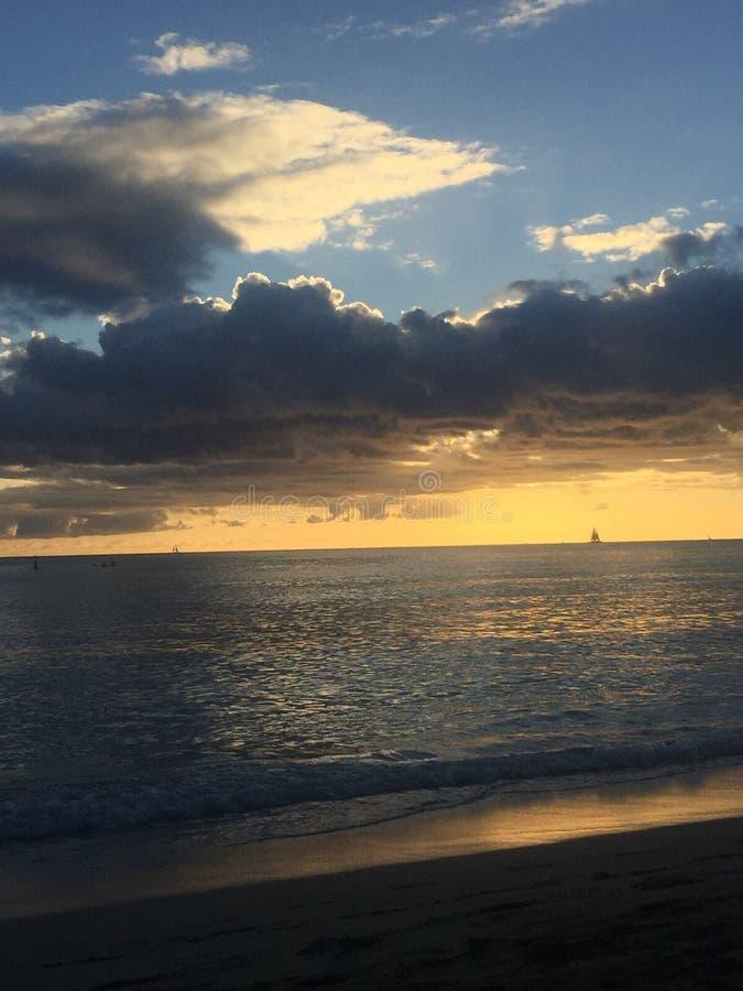 waikiki пляжа стоковое изображение rf