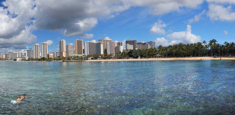 Waikiki Beach Honolulu. royalty free stock photo