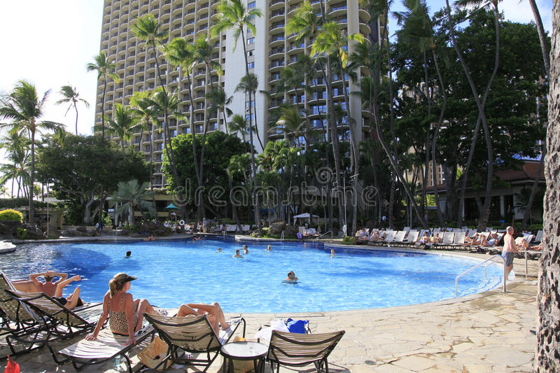 Waikiki Beach Honolulu Hawaii stock photography