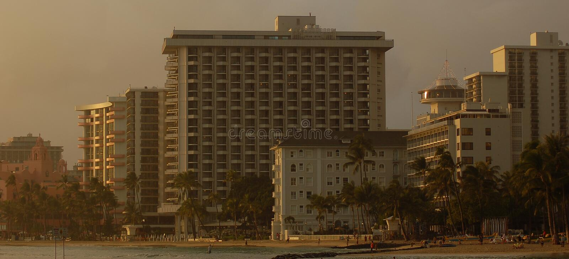 Waikiki Beach Hotels Editorial Stock Image Image Of View