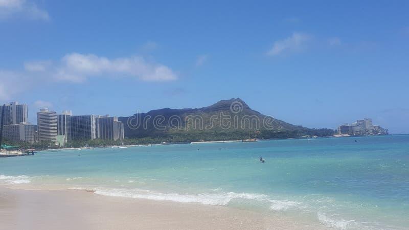 Waikiki cityscape arkivfoton