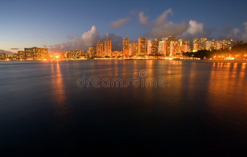 Waikiki Dusk royalty free stock photography