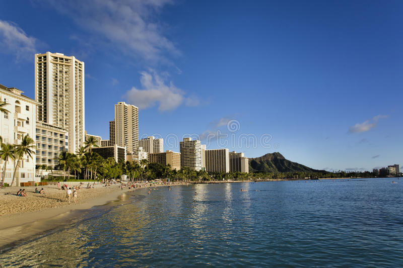 Waikiki hawaii royalty free stock photos