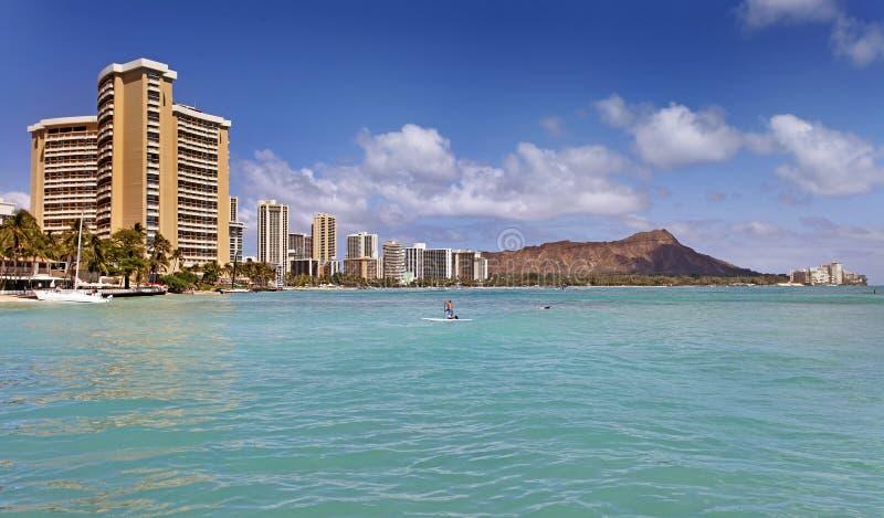 Waikiki Honolulu Hawaï stock foto