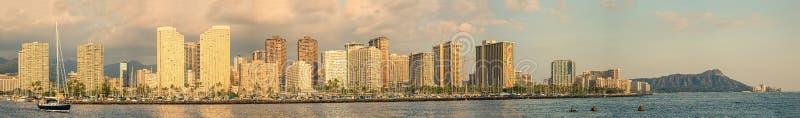 Waikiki-Panorama stockfotografie