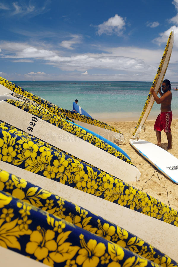 Waikiki Plaża Hawaje - Honolulu - fotografia stock