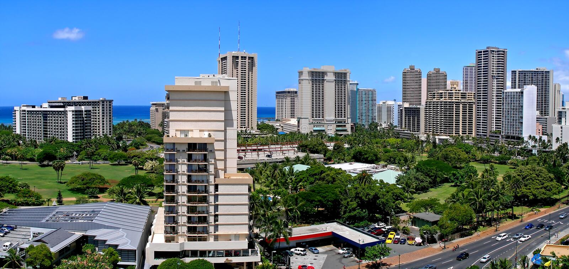 Download Waikiki Skyline Panorama stock image. Image of exotic - 11638493