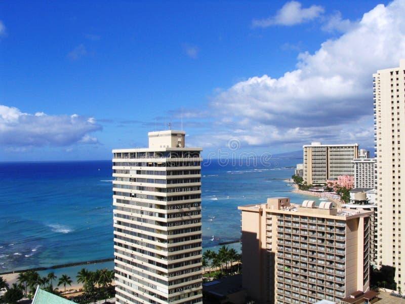 Waikiki Stadt lizenzfreies stockbild