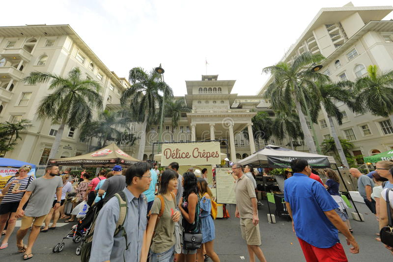 Waikiki-Straßenfest lizenzfreies stockbild
