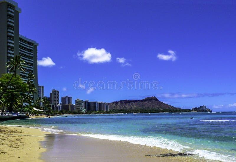 Waikiki-Strand, Hawaii stockbilder