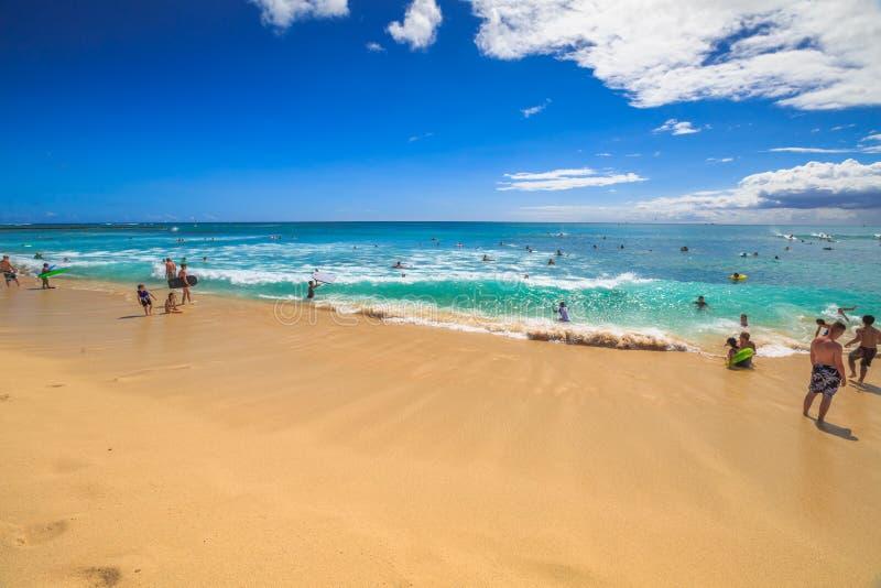 Waikiki strandferier fotografering för bildbyråer