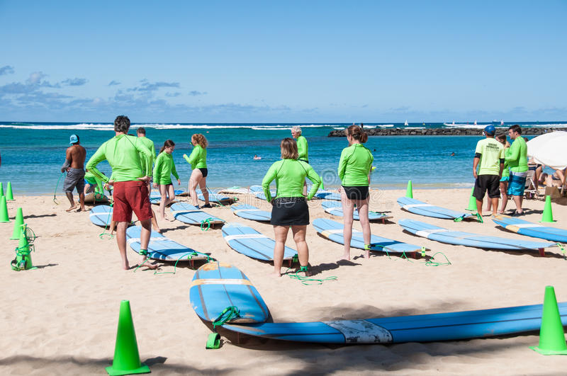 Download Waikiki surf lessons editorial photography. Image of sport - 31948187