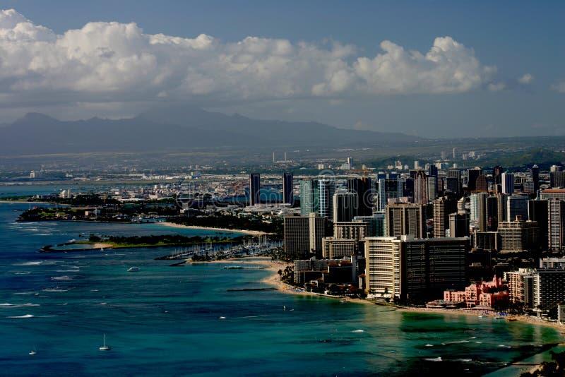 Waikiki und Honolulu stockfoto