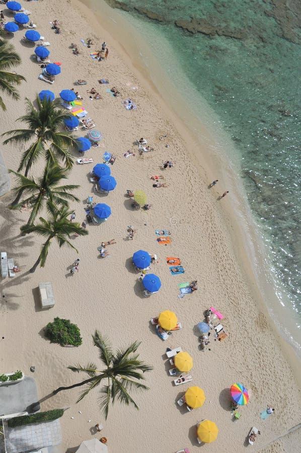 Waikiki van hierboven stock fotografie
