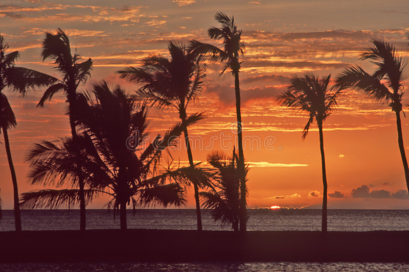 Waikoloa Sunset-2 photographie stock libre de droits