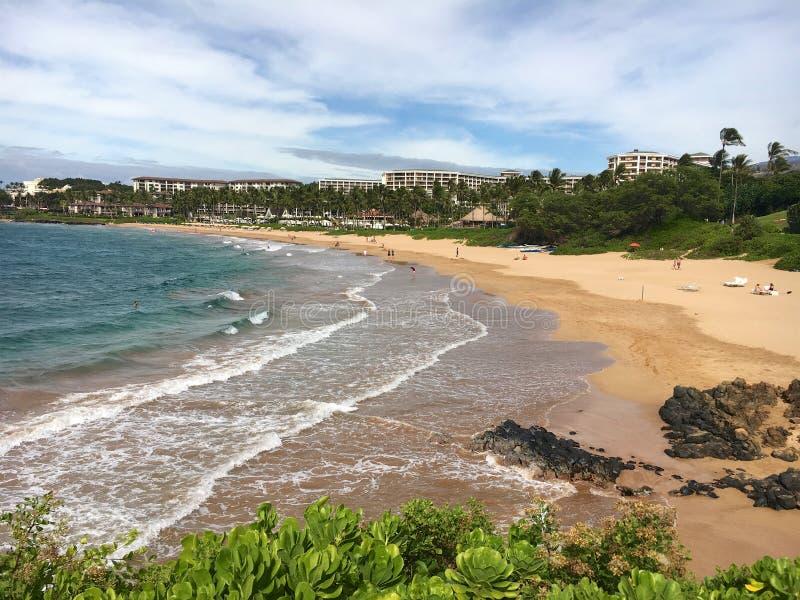 Wailea-Strand Maui stockfoto
