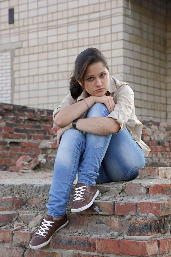 Wailful młoda kobieta zdjęcie stock