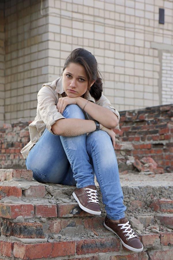 Wailful młoda kobieta zdjęcie royalty free