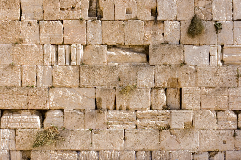 Wailing Wall. Useful for background. Jerusalem, Israel stock photos