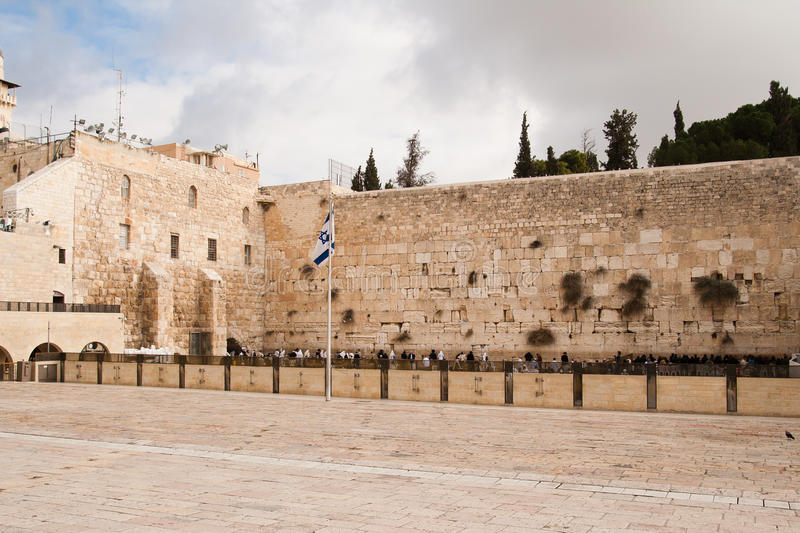 Wailing Wall, also named Western Wall or Kotel. Is world famous religious object royalty free stock image