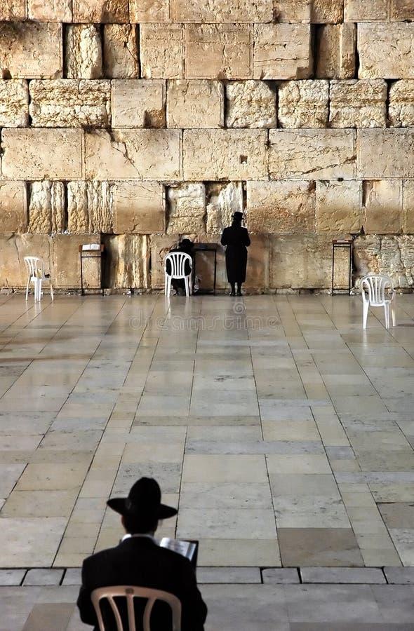 The Wailing Wall - Jerusalem royalty free stock photo