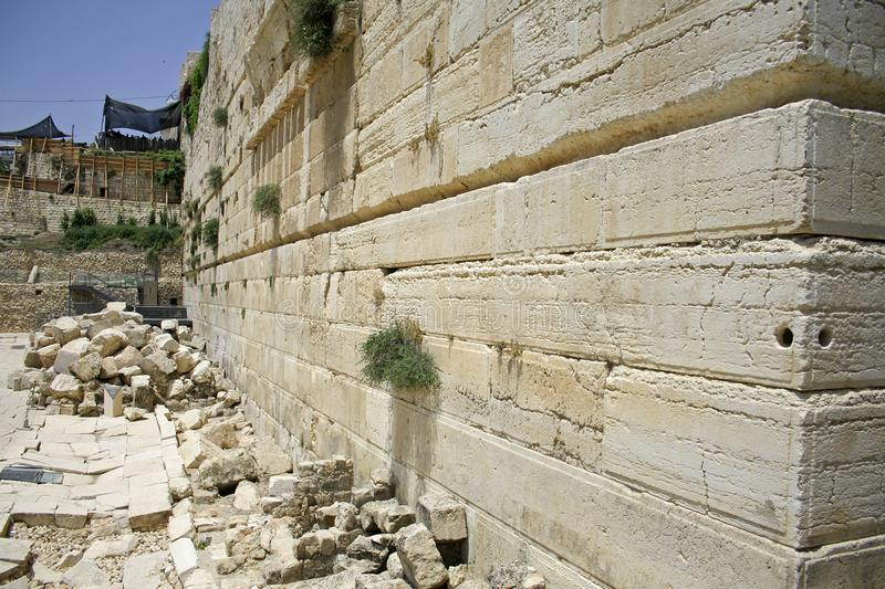Wailing wall, jerusalem royalty free stock photos