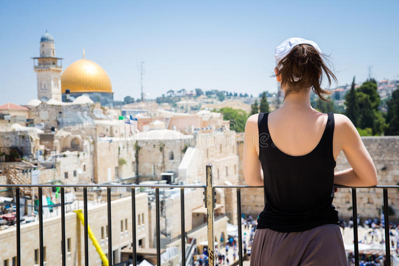 Wailing Wall in in Jerusalem stock photography