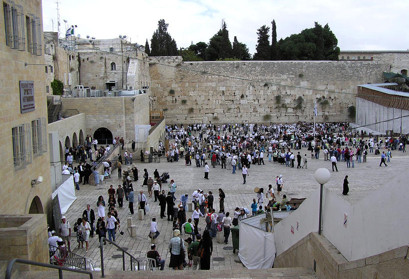 The wailing wall in Jerusalem. Is a historical place where many different people bring their prayers to God royalty free stock photography