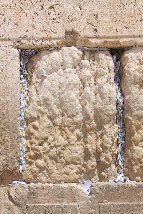 The Wailing Wall, Jerusalem, Israel stock photography