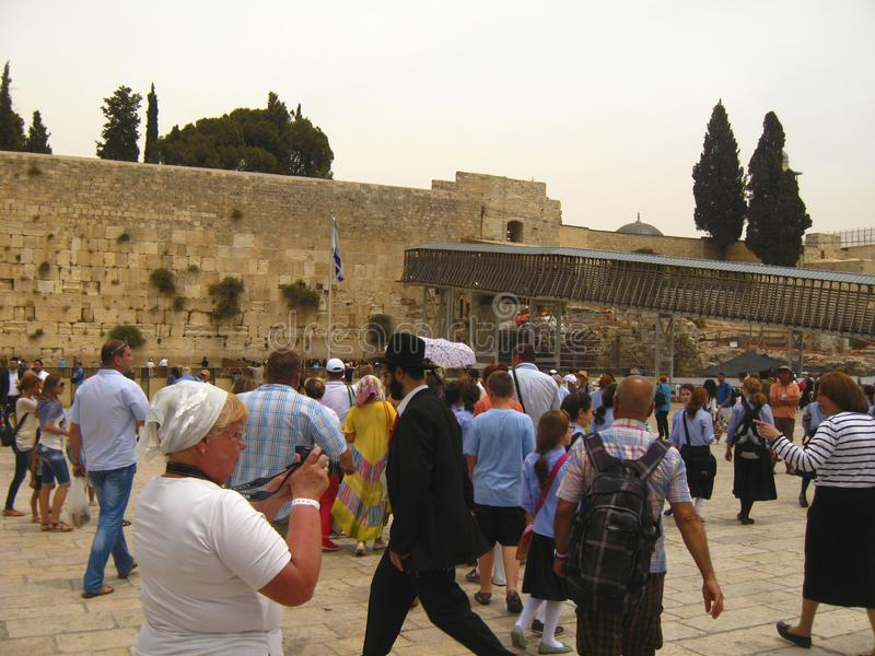 Wailing Wall The Place of Weeping, Jerusalem, Old City. 19 may 2013 stock photos