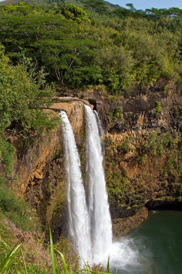 Wailua秋天,考艾岛,夏威夷 库存照片