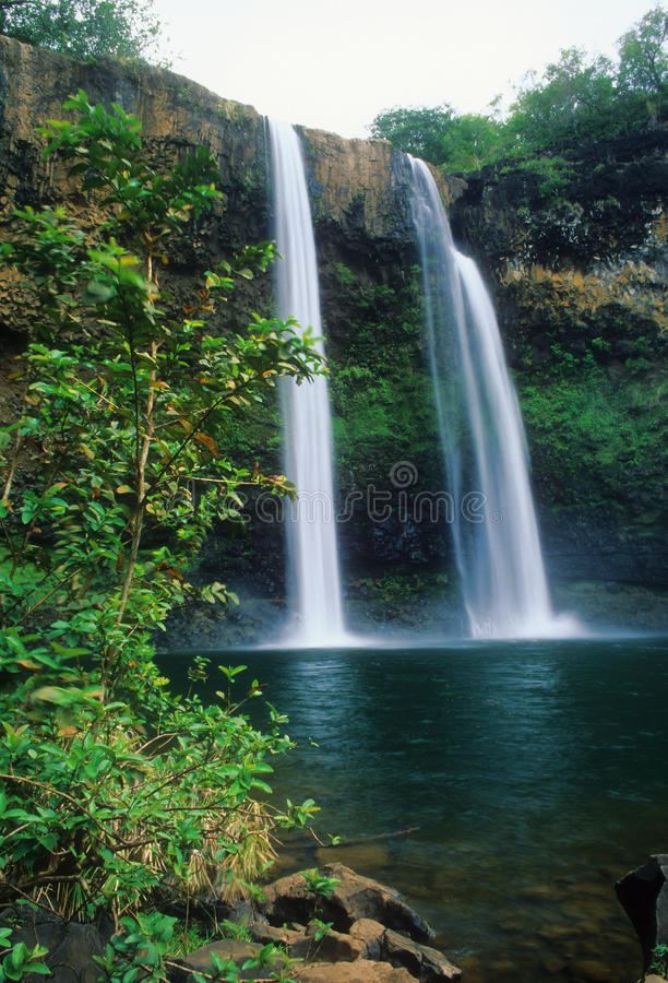 Free Wailua Falls Royalty Free Stock Image - 13136536