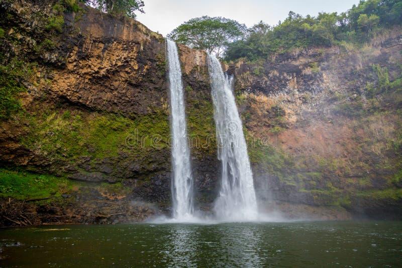 Wailua Falls in Kauai Hawaii royalty free stock images