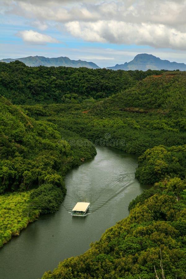 Wailua rzeka na Kauai, Hawaje obraz royalty free