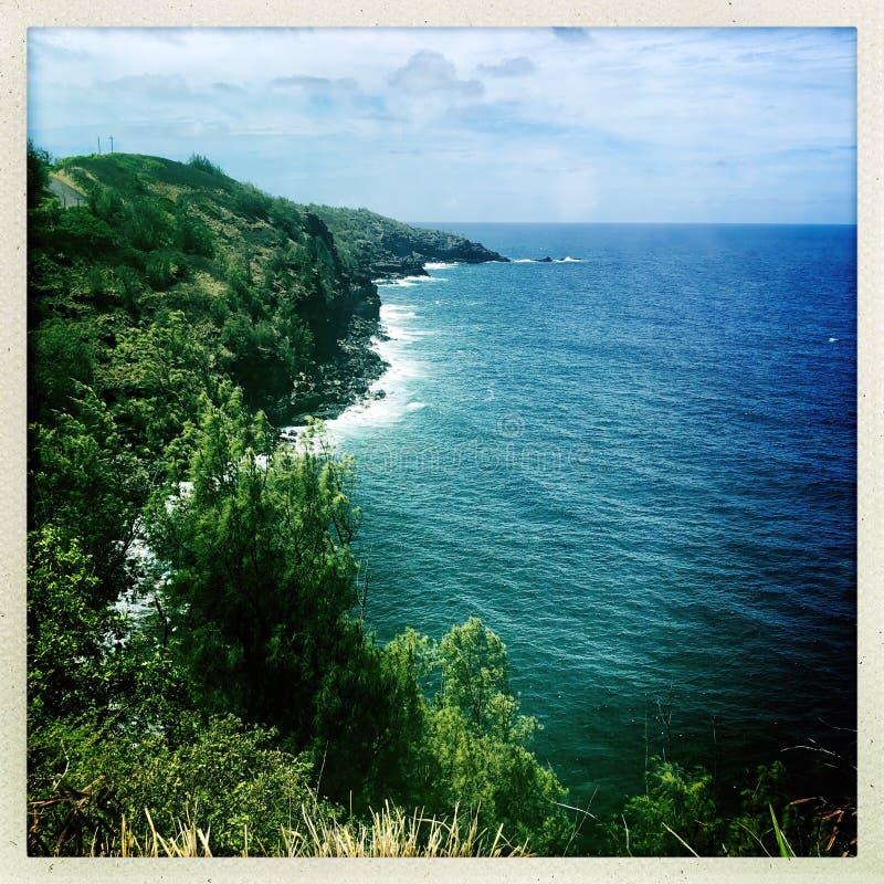 Wailuku海岸线 免版税库存照片
