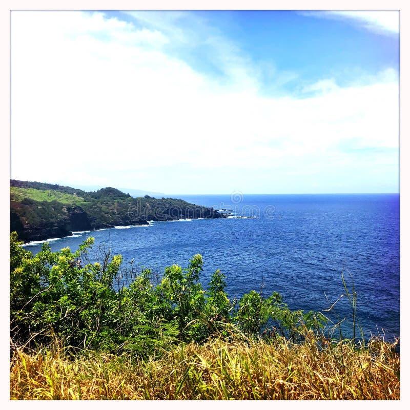 Wailuku linia brzegowa w Maui zdjęcia royalty free