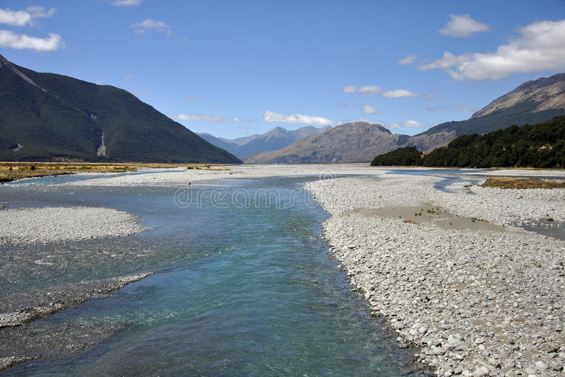 Waimakariri rzeka obrazy royalty free