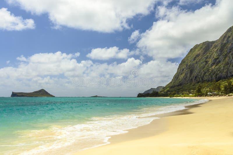 Waimanalo海滩 免版税库存图片