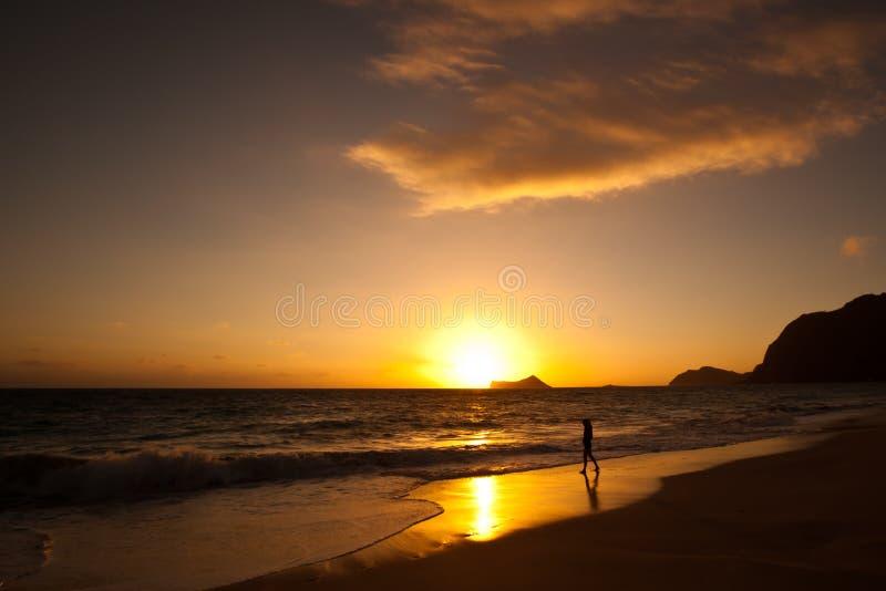 Waimanalo beach at sunrise