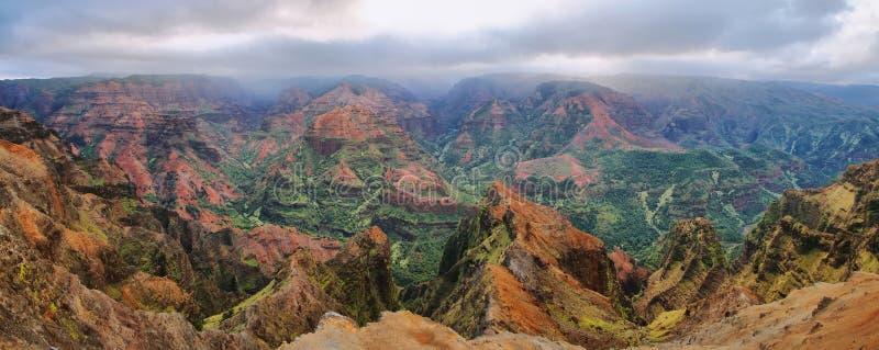 Waimea峡谷在考艾岛,夏威夷海岛。 免版税库存图片